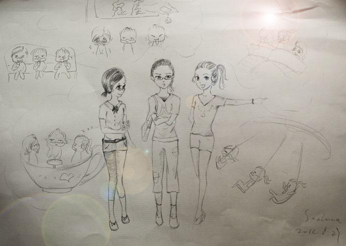 卡通画(七)快乐的暑假